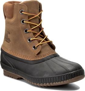 Brązowe buty zimowe Sorel w stylu casual