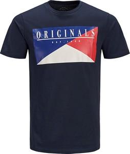 Granatowy t-shirt Jack & Jones