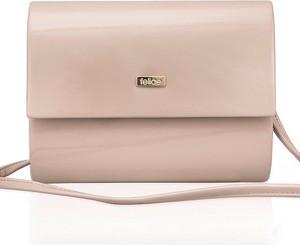 129355b060843 torebka kopertówka beżowa lakierowana - stylowo i modnie z Allani