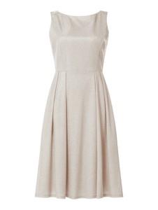 Sukienka Vera Mont z satyny mini bez rękawów