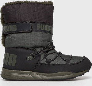 Czarne buty dziecięce zimowe Puma sznurowane