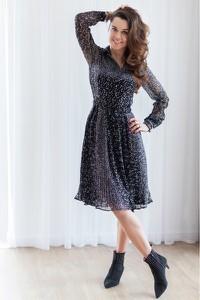 Sukienka Fenderr w stylu casual z szyfonu koszulowa