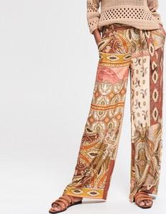 Brązowe spodnie Reserved w stylu boho