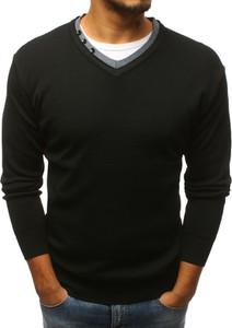 Czarny sweter Dstreet w stylu casual