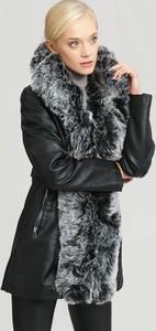 Czarna kurtka Renee w stylu casual długa
