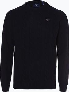 Granatowy sweter Gant z wełny w stylu casual