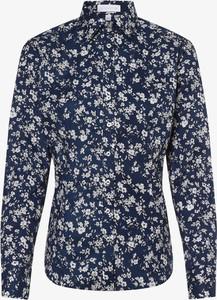 Bluzka brookshire w stylu casual z kołnierzykiem z długim rękawem