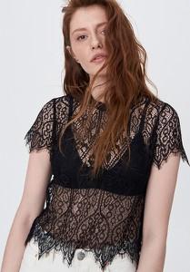 Czarna bluzka Sinsay z okrągłym dekoltem