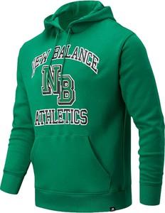 Zielona bluza New Balance z bawełny