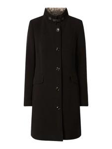 Czarny płaszcz Montego z wełny