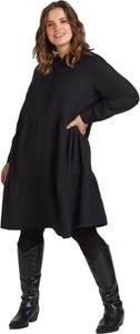 Sukienka Zizzi z długim rękawem z lnu oversize