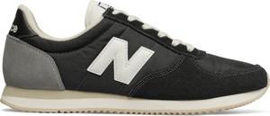 Czarne buty sportowe New Balance ze skóry sznurowane