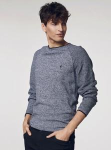 Sweter Ochnik z okrągłym dekoltem z bawełny