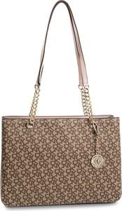 Brązowa torebka DKNY w stylu casual
