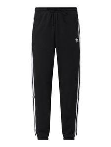 Czarne spodnie Adidas Originals w sportowym stylu z dresówki