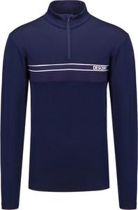 Granatowy sweter Descente w stylu casual