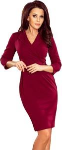 Sukienka NUMOCO dopasowana mini z dekoltem w kształcie litery v