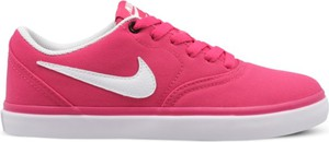 Różowe trampki Nike z płaską podeszwą