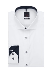 Koszula Olymp Level Five z klasycznym kołnierzykiem z bawełny