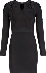 Czarna sukienka Marciano z długim rękawem