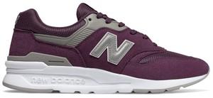99fbc89b Fioletowe buty sportowe New Balance sznurowane w sportowym stylu ze skóry