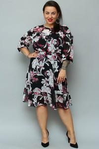 Sukienka KARKO midi z długim rękawem