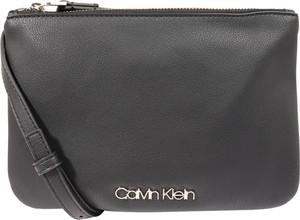 Brązowa torebka Calvin Klein na ramię w sportowym stylu ze skóry
