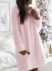 Różowa sukienka Cikelly oversize mini