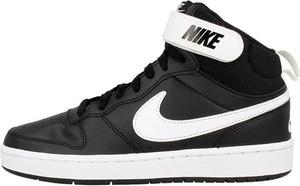 Czarne buty sportowe dziecięce Nike sznurowane ze skóry superstar