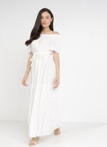 Sukienka born2be maxi trapezowa z krótkim rękawem