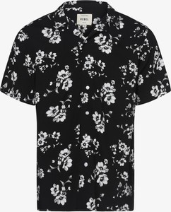 Czarna koszula Redefined Rebel z krótkim rękawem z klasycznym kołnierzykiem