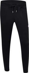 Czarne spodnie New Balance z bawełny w sportowym stylu