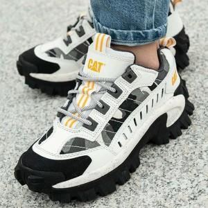 Sneakersy Caterpillar sznurowane z płaską podeszwą