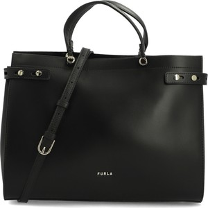 Czarna torebka Furla na ramię ze skóry