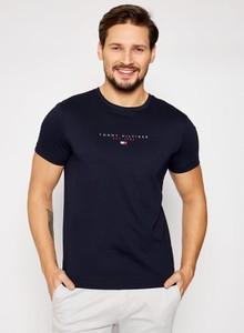 Czarny t-shirt Tommy Hilfiger z bawełny z krótkim rękawem