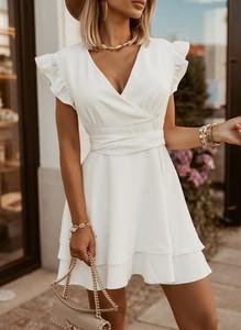 Sukienka Sandbella w stylu boho trapezowa mini