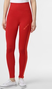 Czerwone legginsy Adidas Originals z dżerseju