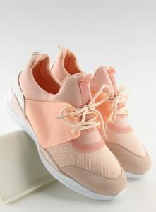 Buty sportowe Inello ze skóry ekologicznej w sportowym stylu z płaską podeszwą