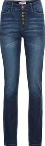 Granatowe jeansy bonprix john baner jeanswear w stylu casual