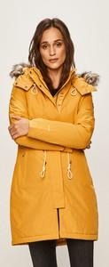 Żółta kurtka The North Face w stylu casual długa