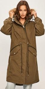 Brązowa kurtka Tommy Jeans długa w stylu casual