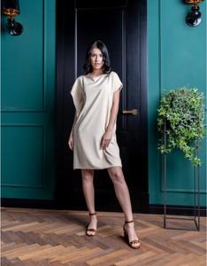 Sukienka ELEONORA PORTERA mini z długim rękawem