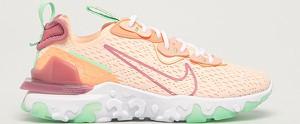 Pomarańczowe buty sportowe Nike Sportswear z płaską podeszwą sznurowane