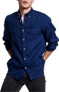 Niebieska koszula Gant w stylu casual z długim rękawem