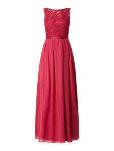 Czerwona sukienka Laona z szyfonu bez rękawów