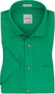 Zielona koszula Signum z krótkim rękawem