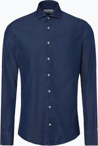 Niebieska koszula PROFUOMO z długim rękawem z jeansu w street stylu