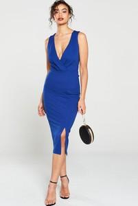 Sukienka V by Very z dekoltem w kształcie litery v midi
