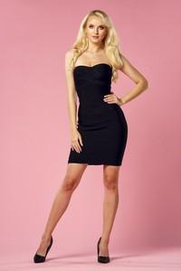Czarna sukienka Molerin bandażowa mini