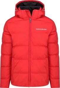 Czerwona kurtka Calvin Klein w stylu casual